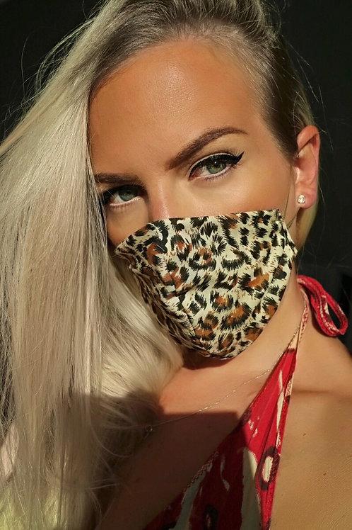 Leopard Print Gold Reusable Washable Face Mask