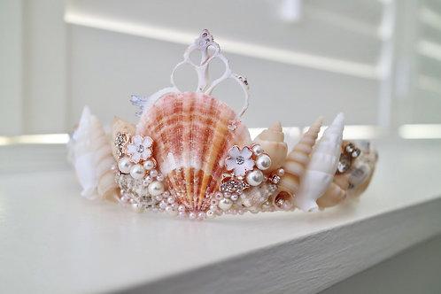 Pasha Rose Gold Sea Shell Mermaid Crown Hair Head Band Wedding Bride Bridal