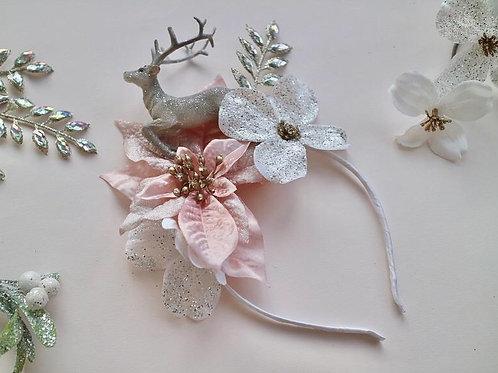 Reindeer Headband Flower Crown Hair Band Christmas Xmas