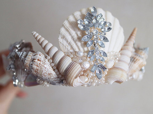 Natural Sea Shell Mother Of Pearl Mermaid Crown Hair Head Band