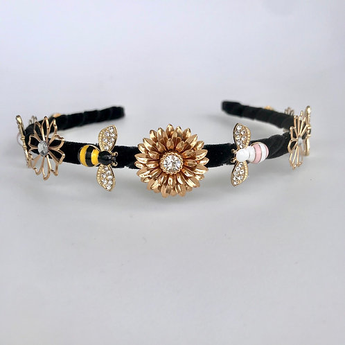 🐝 Bumble Bee 🐝 Thin Jewelled Diamond Alice Band Hair Headband