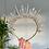 Thumbnail: Aurelia Clear Quartz Crystal Jewel Spike Halo Crown Tiara Hair Band Headband
