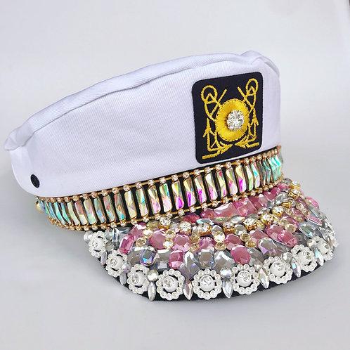 ✨⚓️ Aye Aye Captain 👩🏼✈️ Diamond Jewelled Captain Sailor Hat Bride To Be