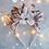 Thumbnail: Rose Gold Leaf White Flower Crown Headband Hair Band Winter  Christmas