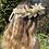 Thumbnail: 🌾 Cream Bunny Tail Pampas Grass Wheat Dried Flower Crown Crochet Hair Band Head
