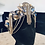 Thumbnail: Electra Navy Blue Gold Diamond Tassel Sea Shell Mermaid Crown Hair Band