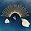 Thumbnail: 👑 Sunburst Gold Spike Halo Diamond Jewel Hair Band Headband Crown Piece Tiara