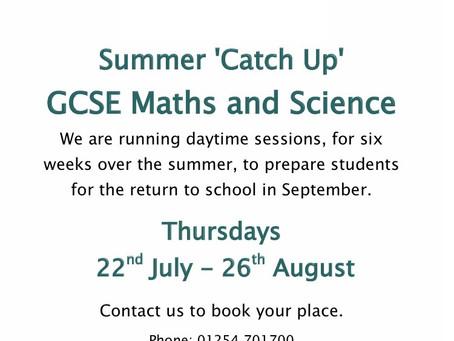 GCSE Summer 'Catch Up'