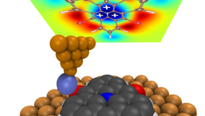 Visualization of the electric fields induced by single molecules