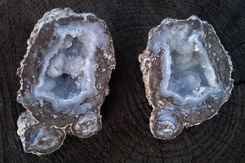 Agate and Crystal Coconut (Mexico)