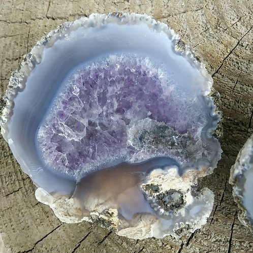 Rare Amethyst and Agate Thunderegg (Mexico)