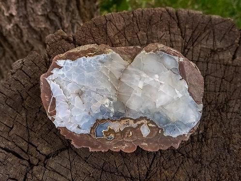Light Blue Opal and Fluorite Crystal Thunderegg, Mt. Wilson OR