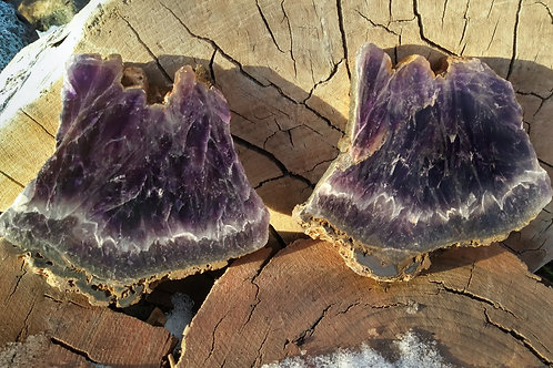 2 Amethyst Crystal Slabs