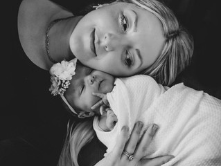 'I'm Stronger than a 58 Day Labor'; mom shares her emotional story of Violet's cesarean birth