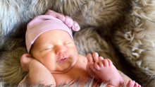 Baby Hazel Frances makes her debut on 9.21.20; mom uses music to soothe her mind