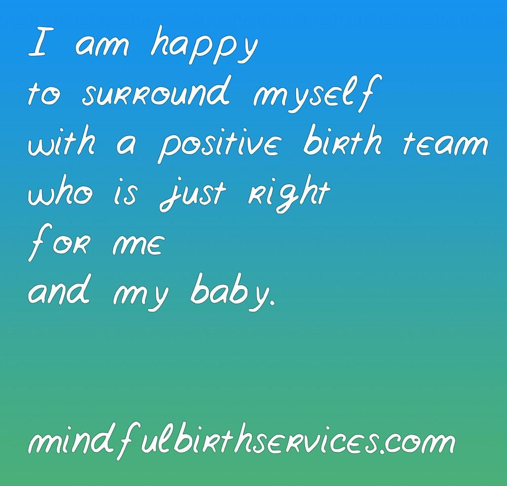 Positive birth team