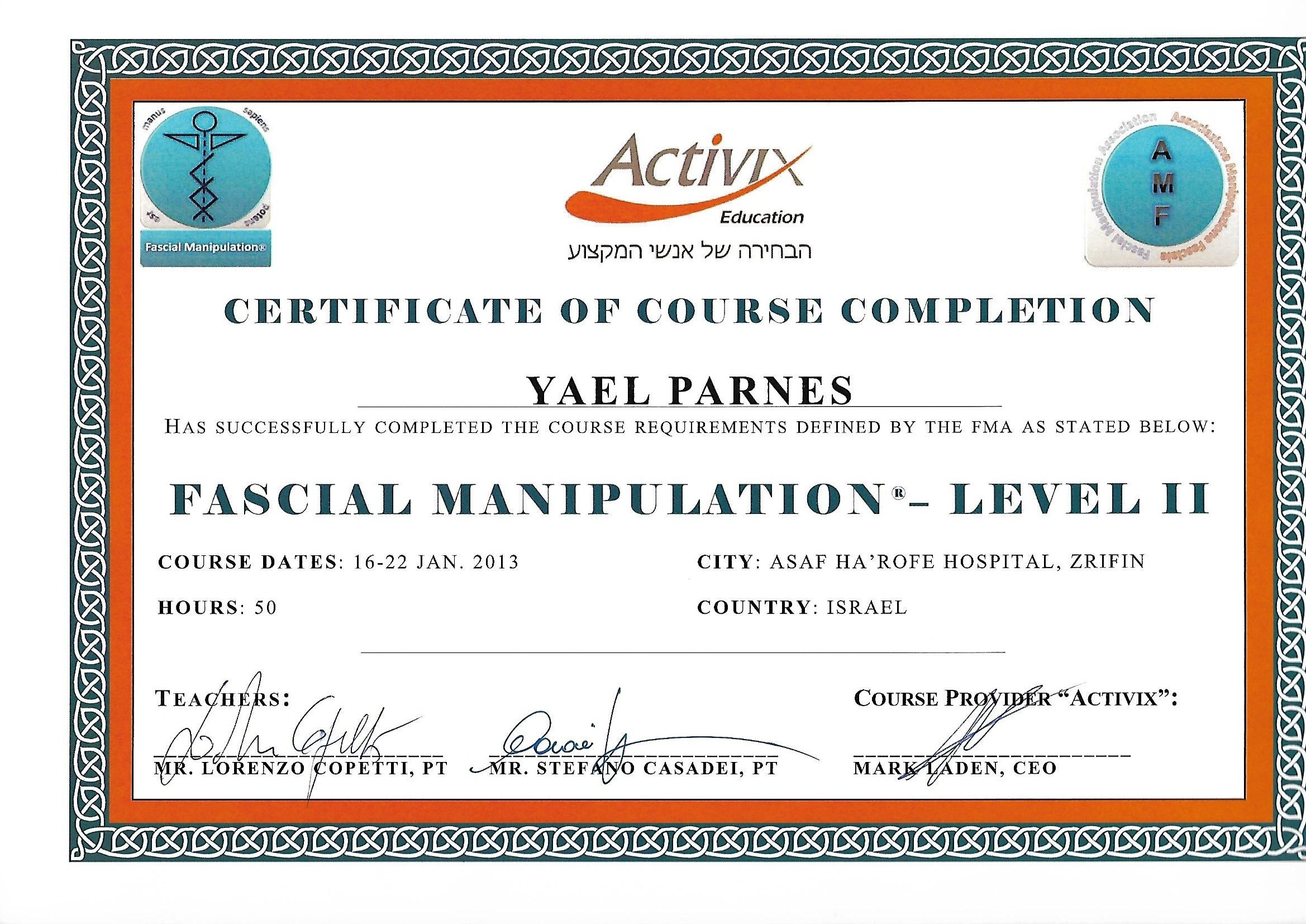 FASCIAL MANIPULATON - LEVEL II