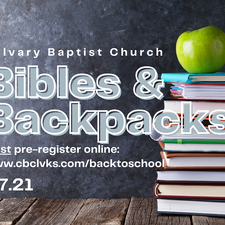 Bibles and Backpacks!