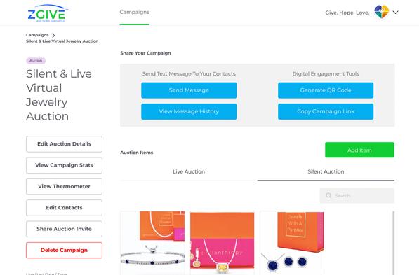ZGIVE Auction Portal
