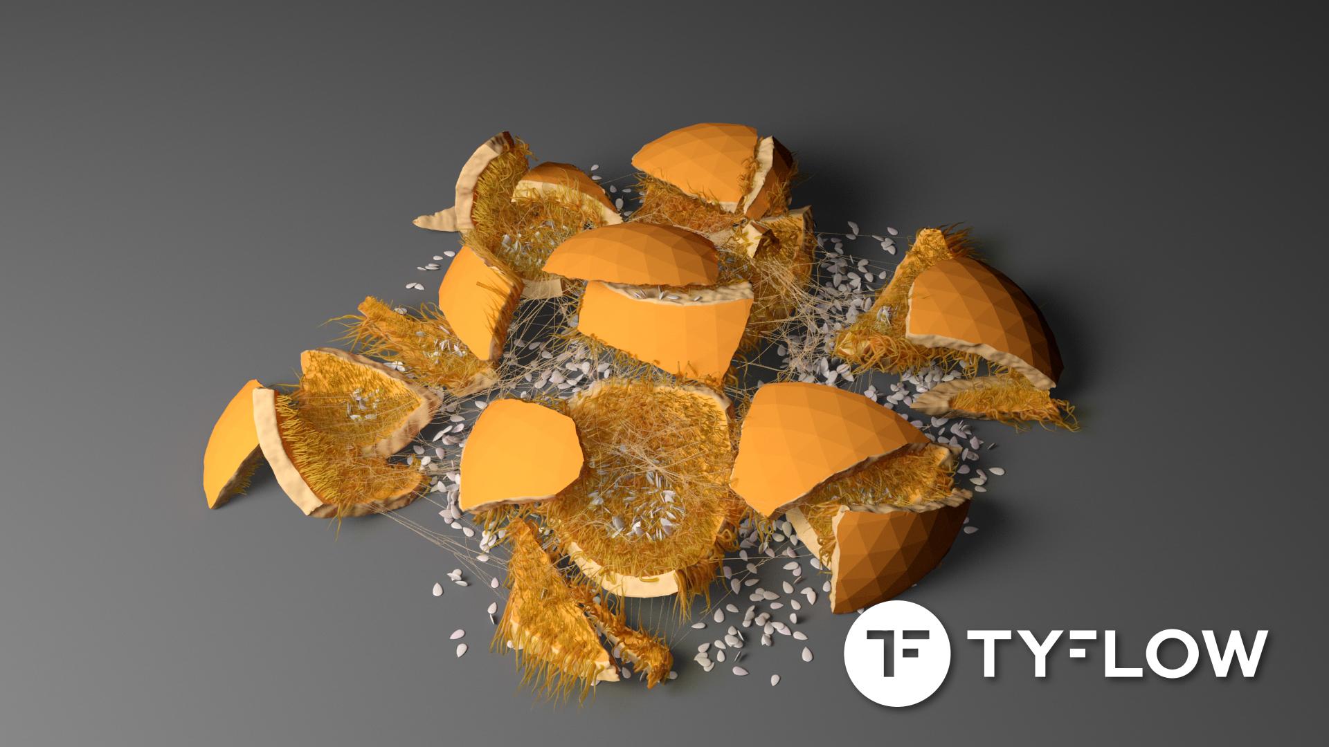 tyFlow Pumpkin Splat