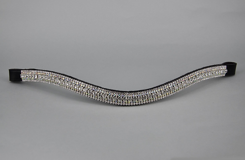"3/4"" Browband - 6mm Clear, 3mm AB & 3mm Clear Jewels"