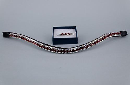 6mm Burgundy & 3mm AB Jewels