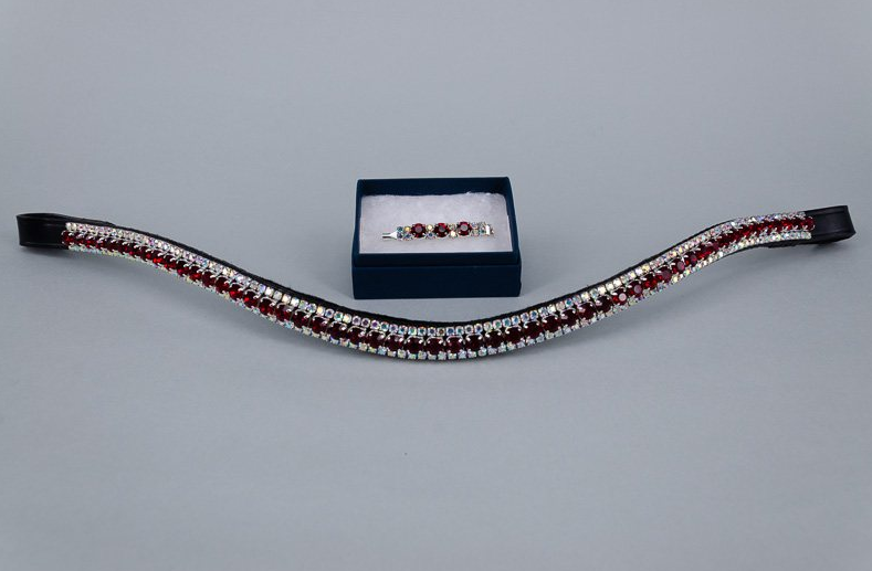 6mm Burgundy & 3mm AB Jewels