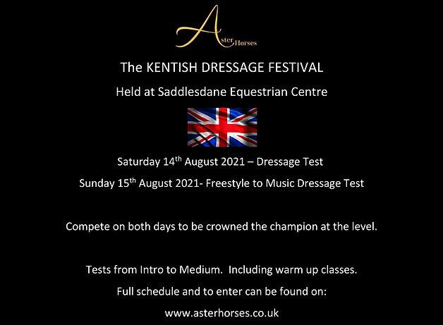 Two Day Kentish Festival of Dressage at Saddlesdane EQ