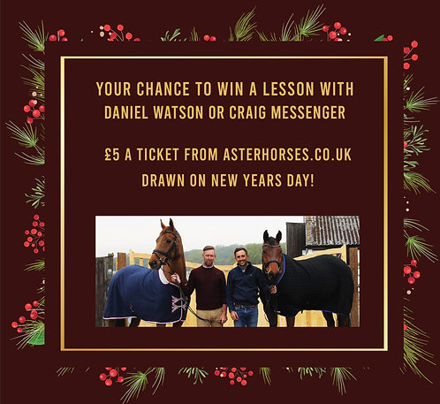 Win a lesson with Daniel Watson or Craig Messenger