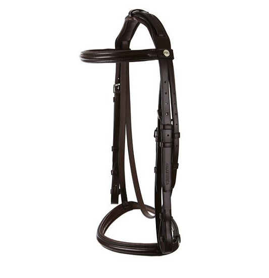Raised Padded Snaffle With Show Noseband Padded Headpiece And Nylon Lined Reins