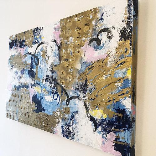 Calm Understanding -Mixed Media Acrylic on Canvas