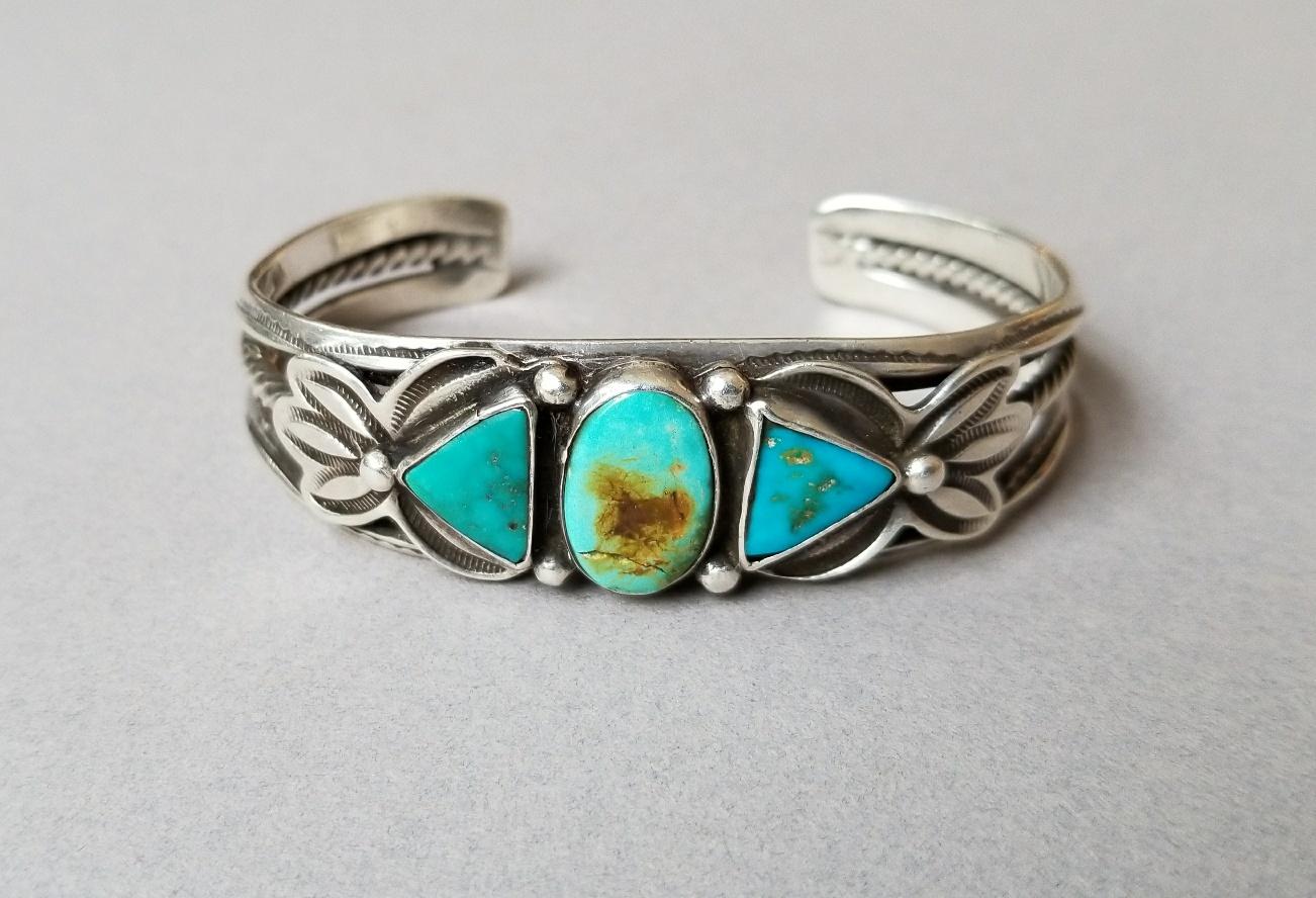 3 stone bracelet ca. 1930's - 40's