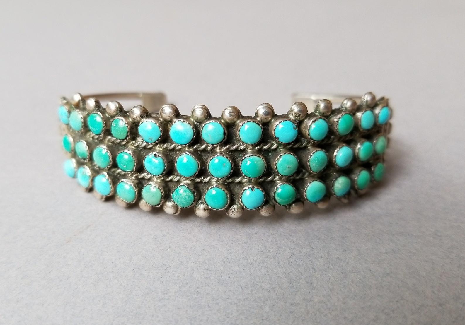 39 stone Zuni row bracelet