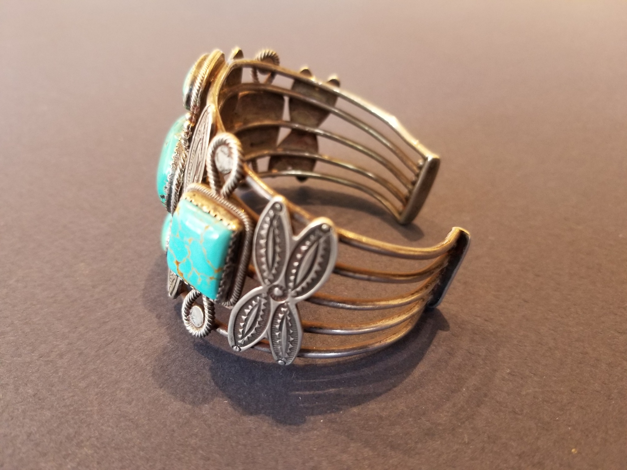 Side view of intricate cuff
