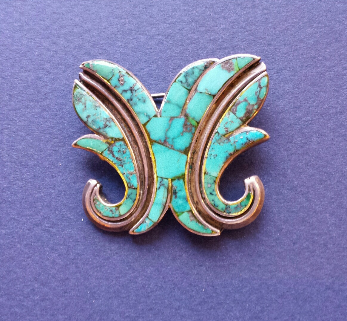 Turquoise inlay pin