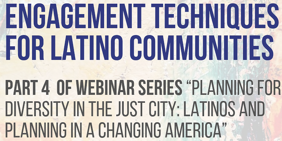 Live, In-person Viewing of Engagement Techniques for Latino Communities Webinar