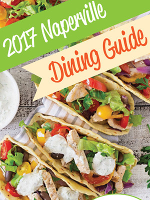 cover page of the 2017 Naperville Dining Guide