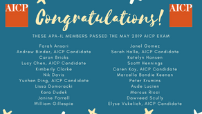 Congratulations Illinois members that passed the Spring 2019 AICP Exam!