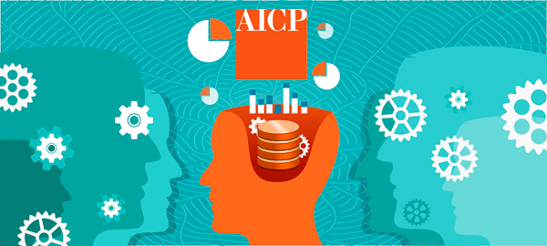 image of people thinking and learning with AICP logo