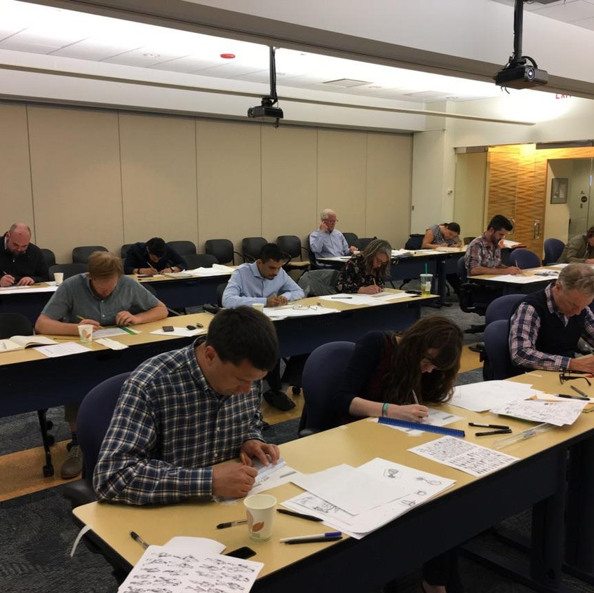 Attendees hard at work.(photo by Bruce Bondy)