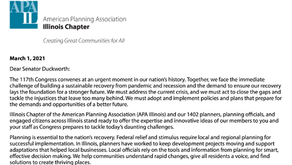 APA-IL asks Sen. Duckworth to support an agenda for recovery and reinvention