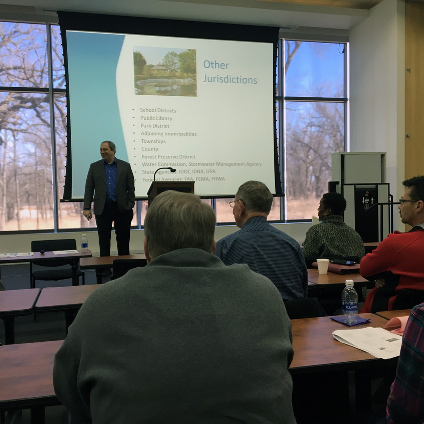 April 7, 2018 Plan Commissioner Training with the Will County Governmental League (photo by Patrick Day, AICP, CMAP)