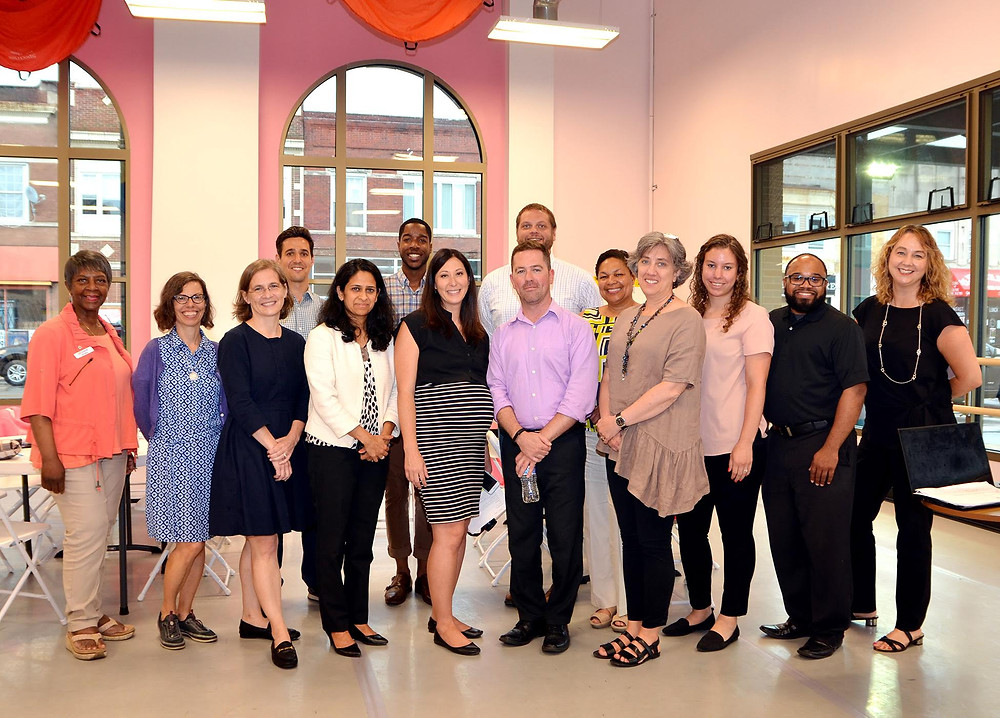 group photo of APA-IL and Proviso Partners for Health attendees for the July workshop.