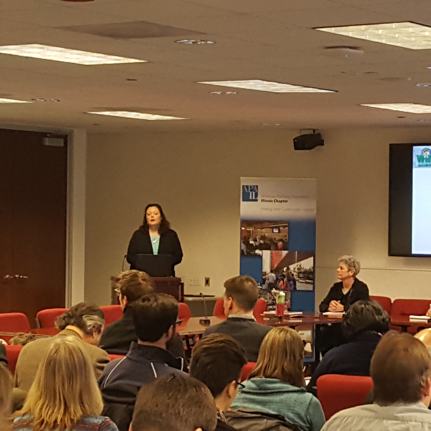 January 2017 CMS Event: Long Range Transportation Planning in Cook, DuPage, and Will Counties. Speaker: Christina Kupkowski, P.E. Photo by Ryan Richter, AICP