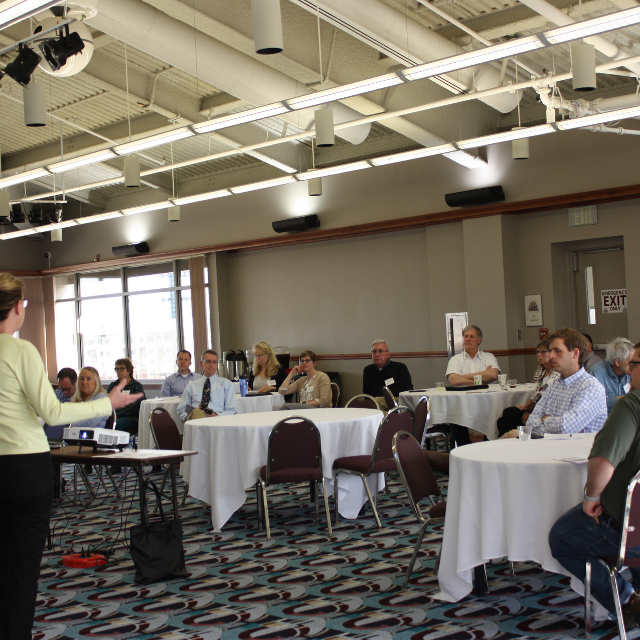 David Silverman, AICP and Cindy Winland, FAICP present at the Champaign County RPC Plan Commissioner Training 04-12-18 (photo by Kathleen Oldrey, CCRPC)
