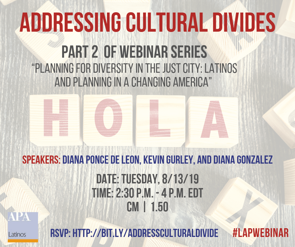 Addressing Cultural Divides webinar promotional image