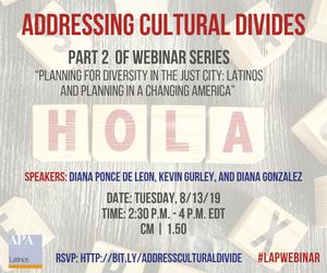 Addressing Cultural Divides webinar promotional image