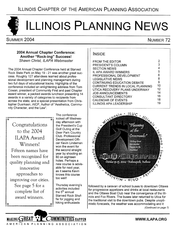 Illinois Planning News