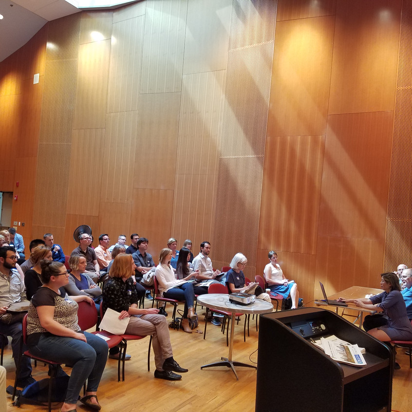 Things are underway here at the Choral Room inside Millennium Park Pritzker Pavilion