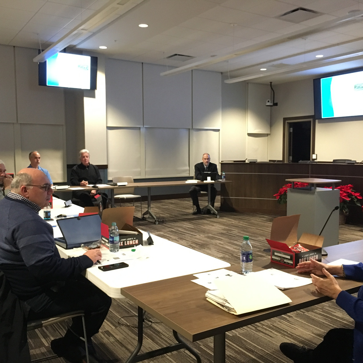 Carol Stream Plan Commissioner Training, 1-14-19 with Andy Cross, AICP and Laurie Marston, FAICP (photos by Paula Freeze)